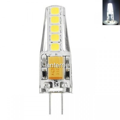 Bec LED 3W Soclu G4 12V 6400K Alb Rece Siliconat MNR4214