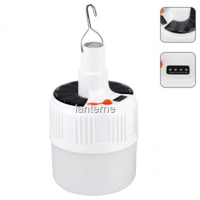 Bec LED Solar 220V Indicator Incarcare Lampa cu Agatatoare 17cm L HSV52