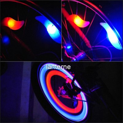 Set 4 Lumini Hot Wheels LED Multicolor Decorativ pentru Spite Bicicleta