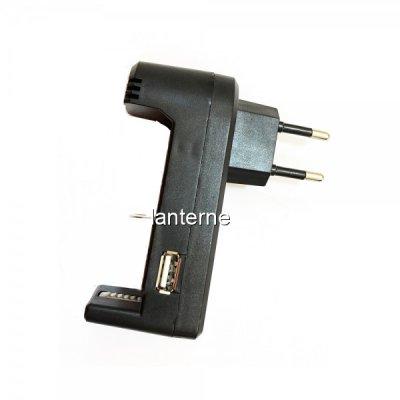 Incarcator Acumulatori 14500, 18650 si 26650 cu slot USB 500mAh