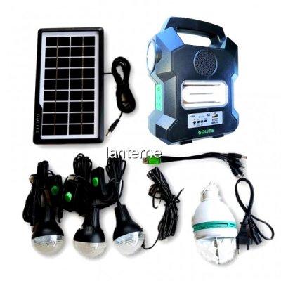 Kit cu Panou Solar 6V4A 3 Becuri, Radio FM USB MP3 GdLite GD1000A
