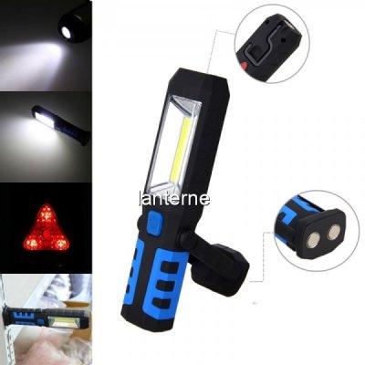 Lampa de Lucru LED 3W+COB LED cu USB, Magnet, Agatatoare 12V 220V