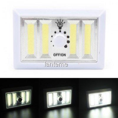 Lanterna 4x1W COB LED Variator Lumina Intrerupator Fara Fir pe Baterii