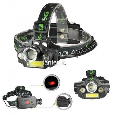 Lanterna Frontala 3LED+COB 3W, Zoom, Acumulatori 12V 220V BLT45T6