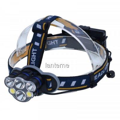 Lanterna Frontala 6 LED Alb si Rosu Acumulatori 2x18650 USB ALXLAN402