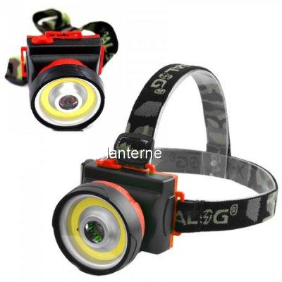 Lanterna Frontala LED 1W si COB 3W pe Baterii BL901COB