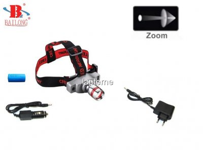 Lanterna Frontala Zoom LED CREE Bailong BL6639