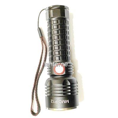 Lanterna LED 10W Incarcare USB Acumulator MMCP12 1x18650