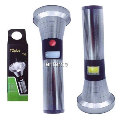 Lanterna LED 10W si COB LED 5W cu Acumulator Incarcare USB TDPlus T46