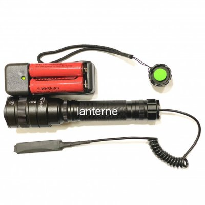 Lanterna LED 5W Tactica Arma Zoom 220V Acumulatori 18650 XHP50 MMCP59