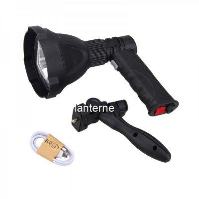 Lanterna LED Pistol XML L2 30W cu Maner, Acumulator si Trepied 536