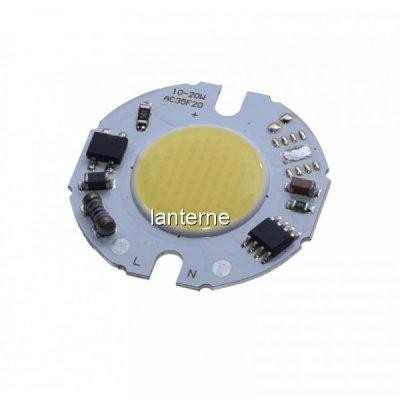 LED COB 35mm Putere 10W 220V Alb Rece LEDH35F10022