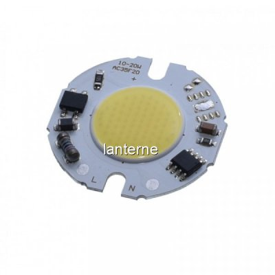 LED COB 35mm Putere 15W 220V Alb Rece LEDH35F15022