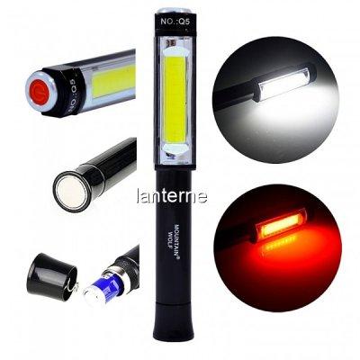 Mini Lanterna COB LED 3W Alb Rosu Lampa Lucru Magnet Mountain Wolf Q5