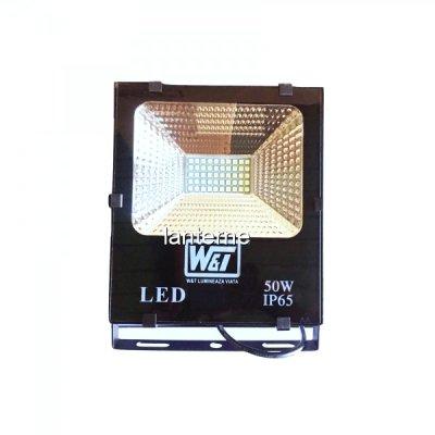 Proiector LED 50W 50LEDuri SMD Alb Rece IP65 220V WT