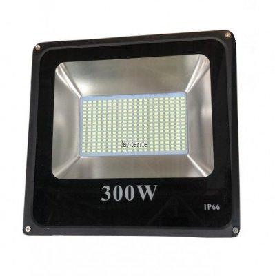 Proiector LED SMD 300W Slim Alb Rece 6400K IP66 220V