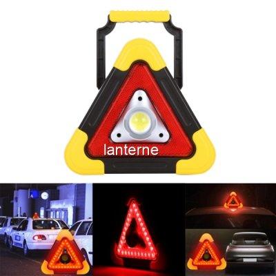 Triunghi Reflectorizant COB LED Incarcare Solara si USB HB6609