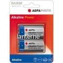 Agfa alkaline power set 2 baterii 1.5 v lr20 d
