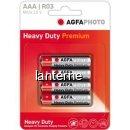 Agfa heavy duty premium set 4 baterii 1.5 v r03  aaa