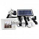 Kit Solar cu Lanterna 24LED, Slot USB si 3 Becuri 6V 4.5Ah DP1006