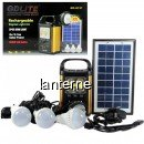 Kit Solar Lanterna COB LED 3W, USB, 3 Becuri, 6V 4Ah GDLite GD8131