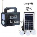 Kit Solar Lanterna LED Radio USB 3 Becuri 6V4Ah GDPLUS GD8028
