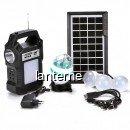 Kit Solar Lanterna LED Radio USB SD 4 Becuri 4V GDPLUS GD8060 Premium