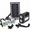 Kit Solar Lanterna LED, USB, 3 Becuri, 6V 4Ah GDLite GD8017