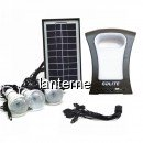 Kit Solar Lanterna LED, USB, 3 Becuri, 6V GDLite GD77
