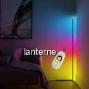 Lampa LEDuri RGB 220V 1.4m de Colt Podea cu Telecomanda