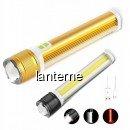 Lanterna de Mana 1 LED XLT6 + COB LED Alb-Rosu Zoom Inc.USB X2T6COB