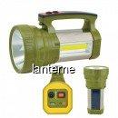 Lanterna Solara LED 1W+1W COB LED USB, 220V, Acumulator 4V 2.5Ah BB002