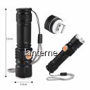 Mini Lanterna LED 3W Compacta, Zoom si Incarcare Directa USB BL515T6