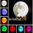 Moon Lamp 3D 15cm Lampa Luna Dimabila LED Multicolor Stand Lemn USB