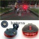 Stop LED Biciclete cu Proiectie Laser Culoar Siguranta Laser Tail Light